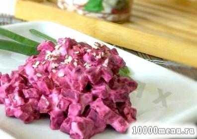 Кулінарний рецепт салат з буряка зі сметаною з фото