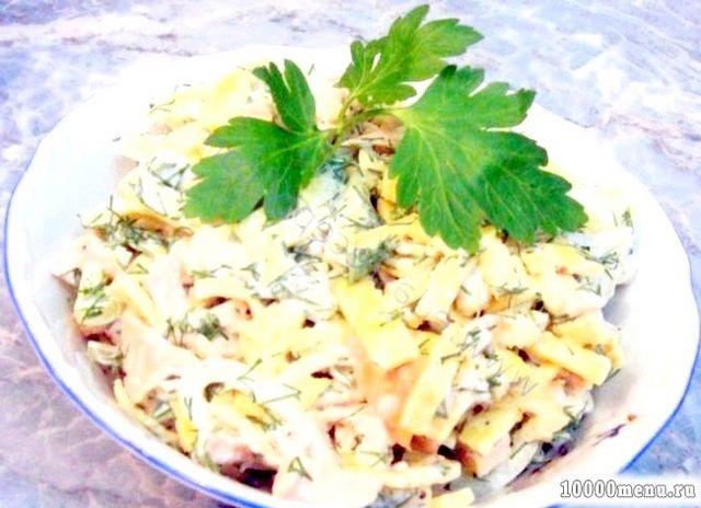 Кулінарний рецепт салат з омлетом з фото