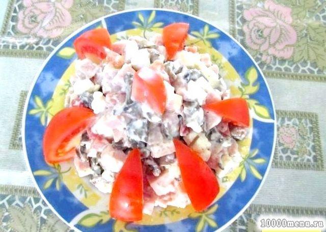 Фото - Салат шинка сир помідори