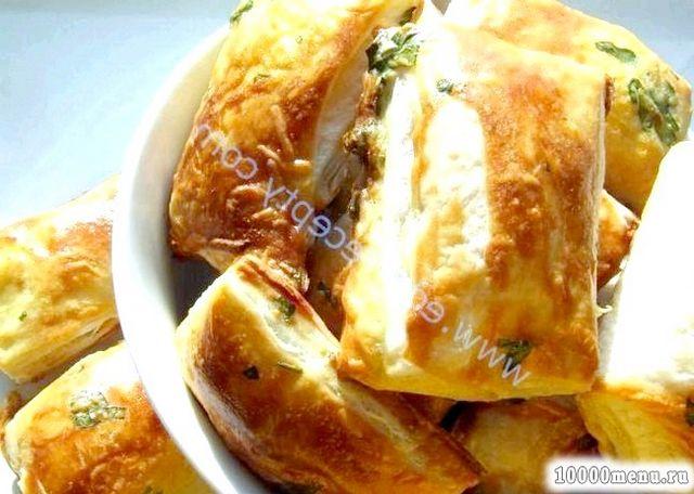 Кулінарний рецепт слойки бульйонні з сиром з фото
