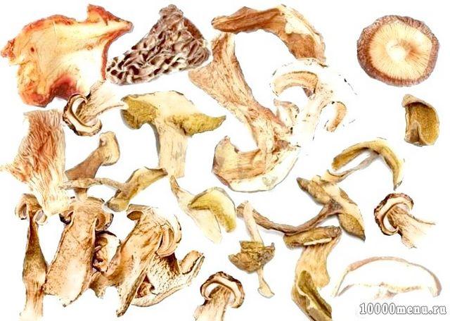 Кулінарний рецепт сушка грибів в духовці з фото