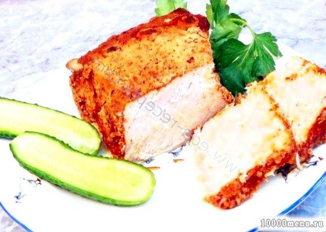 Кулінарний рецепт свинина, запечена в тесті з фото