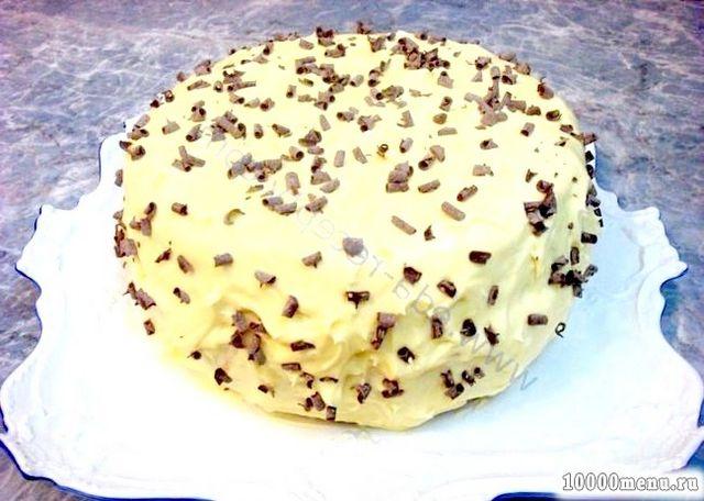 Фото - Обмазати торт і посипати шоколадом