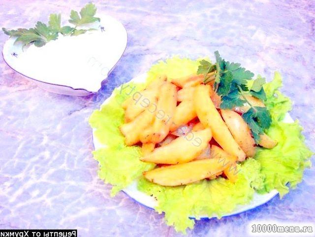 Кулінарний рецепт смачні картопляні часточки з фото