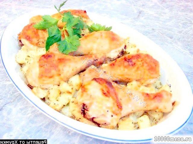 Кулінарний рецепт запечені курячі ніжки в духовці з фото
