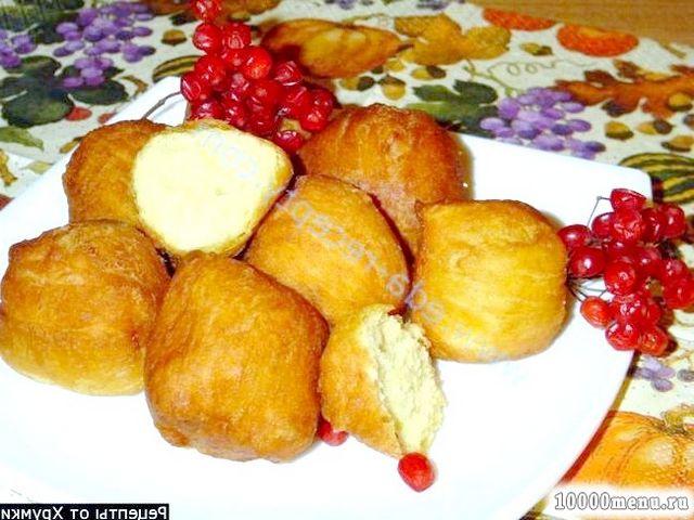 Фото - Смажені пончики з сиру і гарбуза