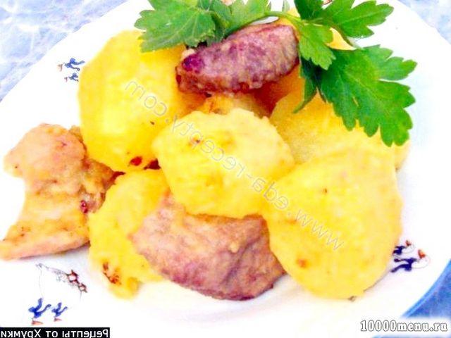 Кулінарний рецепт печеня з картоплею з фото