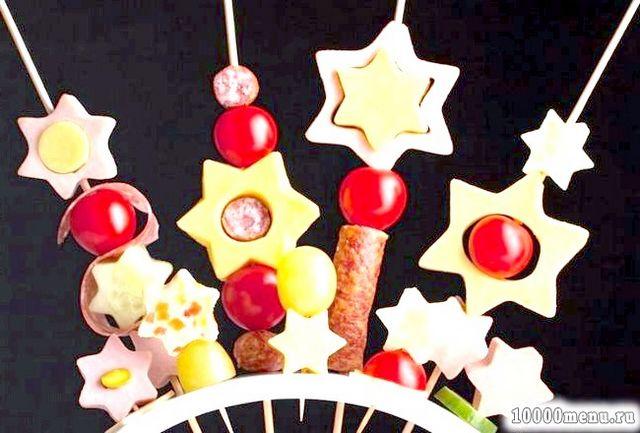 Новорічне меню з зірками