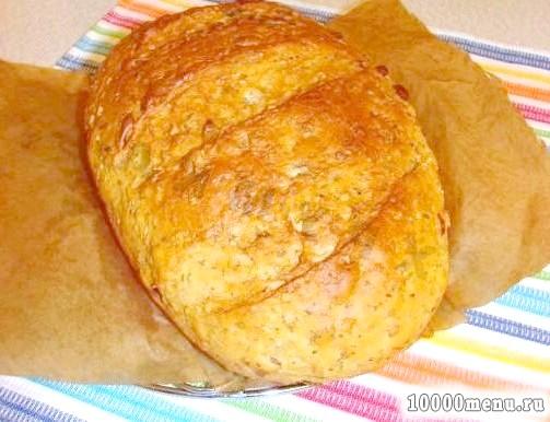 Фото - Хліб з вівсяними пластівцями