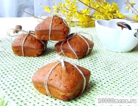 Рецепт карамельні кекси з праліне з фундука з фото