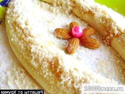 Рецепт медові банани з кунжутної посипкою з фото