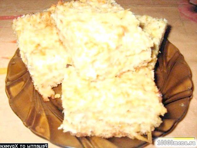 Рецепт насипний яблучний пиріг (сухий пиріг з яблуками) з фото