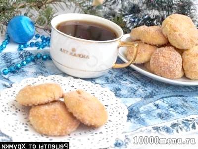 Фото - Новорічне печиво сирне з курагою