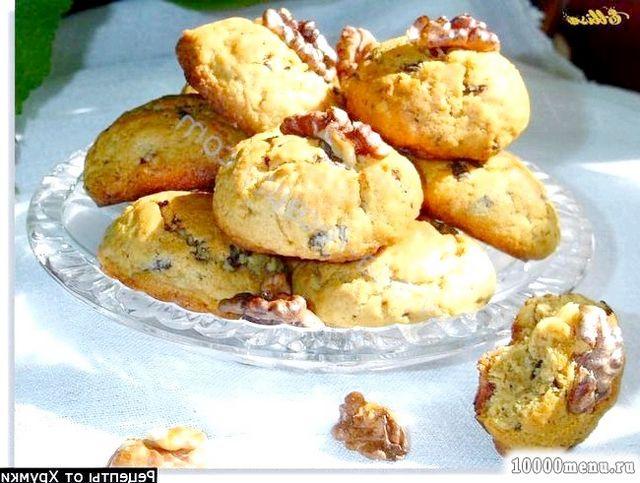 Фото - Печиво з шоколадною крихтою і горіхами