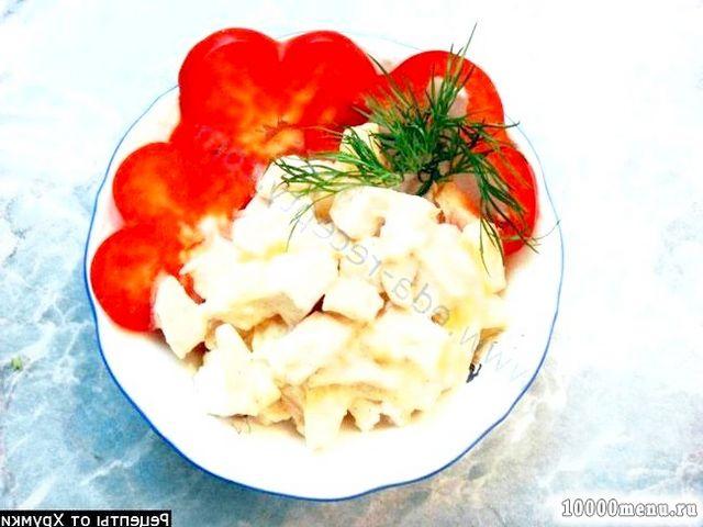 Фото - Салат з курки з ананасом