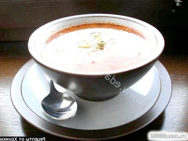 Рецепт суп гречаний з томатами і пікантною заправкою з фото