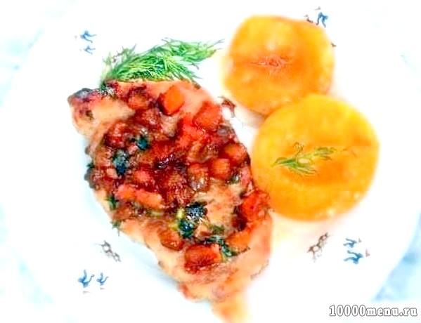 Фото - Свинина в карамелі і в персиках
