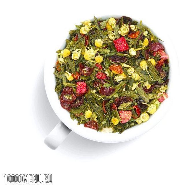 Зелений чай з шипшиною